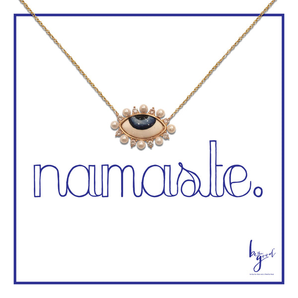 PEARL EYES  NECKLACE