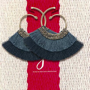 SHADES OF MIDNIGHT DUSTER EARINGS
