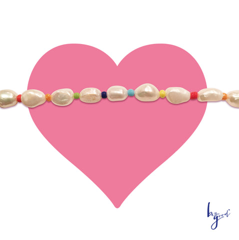 FRESHWATER PEARL AND BRIGHTS CHOKER