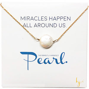 FRESHWATER PEARL COIN NECKLACE