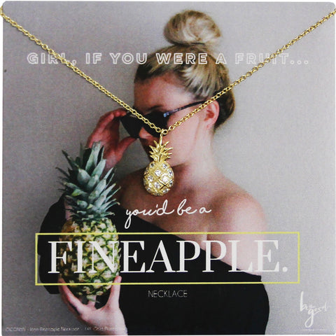 PINEAPPLE PAVE ICON NECKLACE