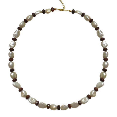 PEARL & JASPER NECKLACE