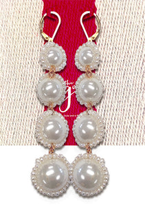 QUATRA PEARL DROP EARRINGS