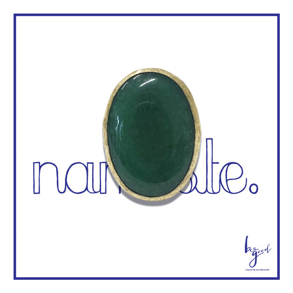 AVENTURINE GREEN QUARTZ RING
