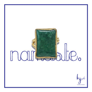 MALACHITE EMERALD CUT RING