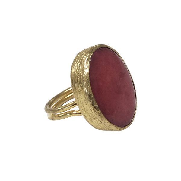 RUBY QUARTZ STATEMENT RING