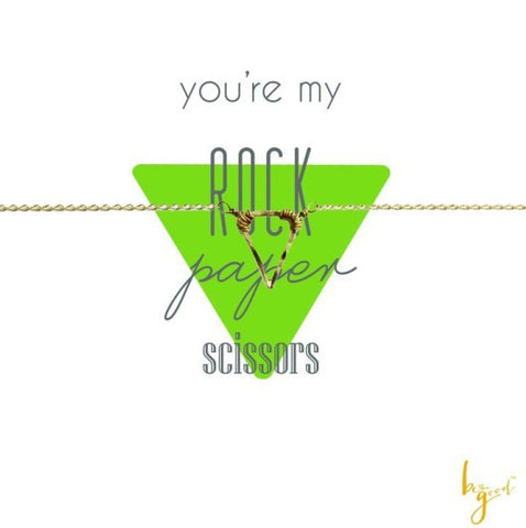 YOU'RE MY ROCK, PAPER, SCISSORS! NECKLACE