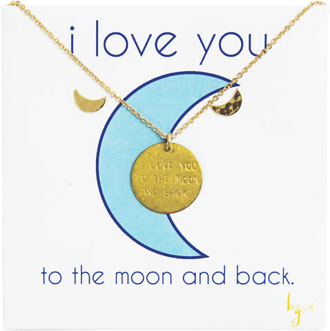 I LOVE YOU TO THE MOON & BACK EARRINGS/NECKLACE