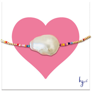SEED BEAD AND PEARL CHOKER NECKLACE