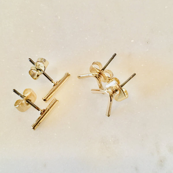 Bits and Pieces stud earrings