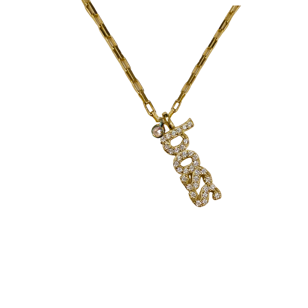 BOSS VERTICAL CHARM NECKLACE