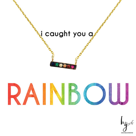 RAINBOW PRIDE BAR NECKLACE