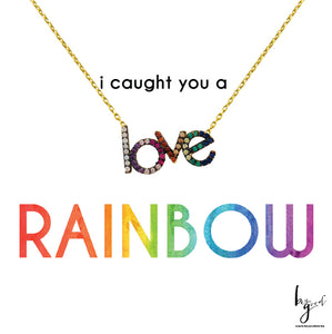 RAINBOW LOVE PAVE NECKLACE