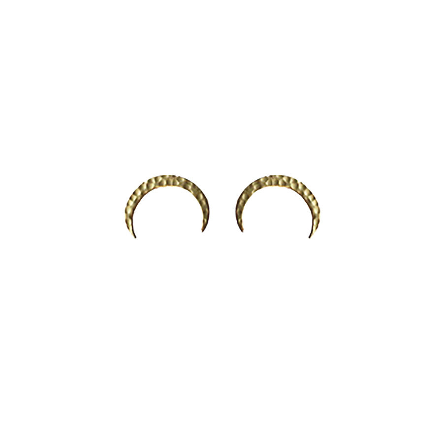 HAMMERED CRESCENT EARRING