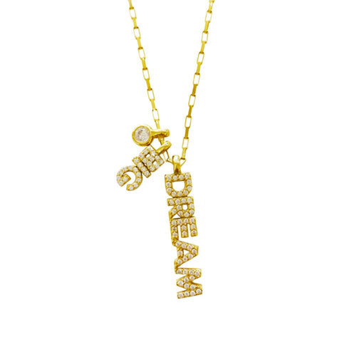 Crystal Dream Big Charm Necklace