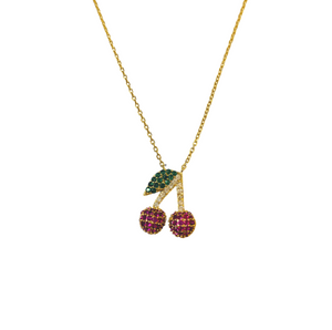CHERRY BOMB PAVE NECKLACE