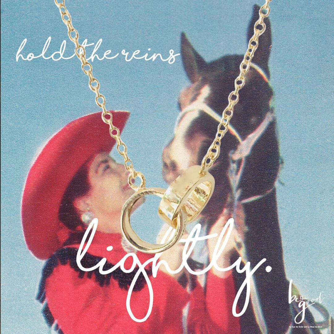 HOLD THE REINS HORSE BIT NECKLACE