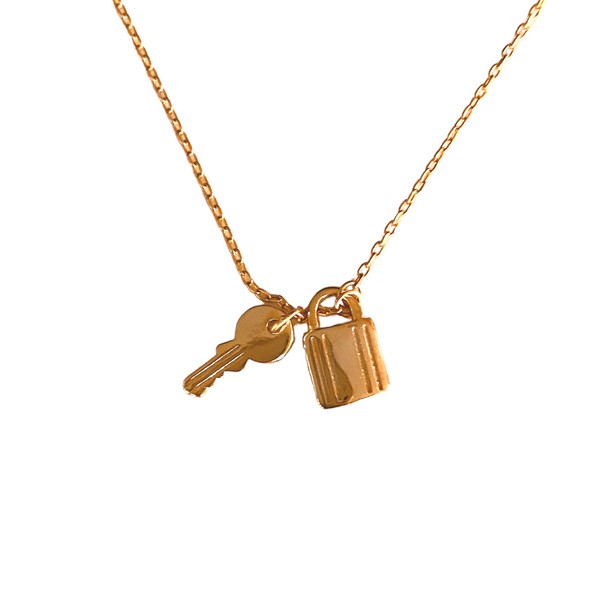 LOCK & KEY GOLD NECKLACE