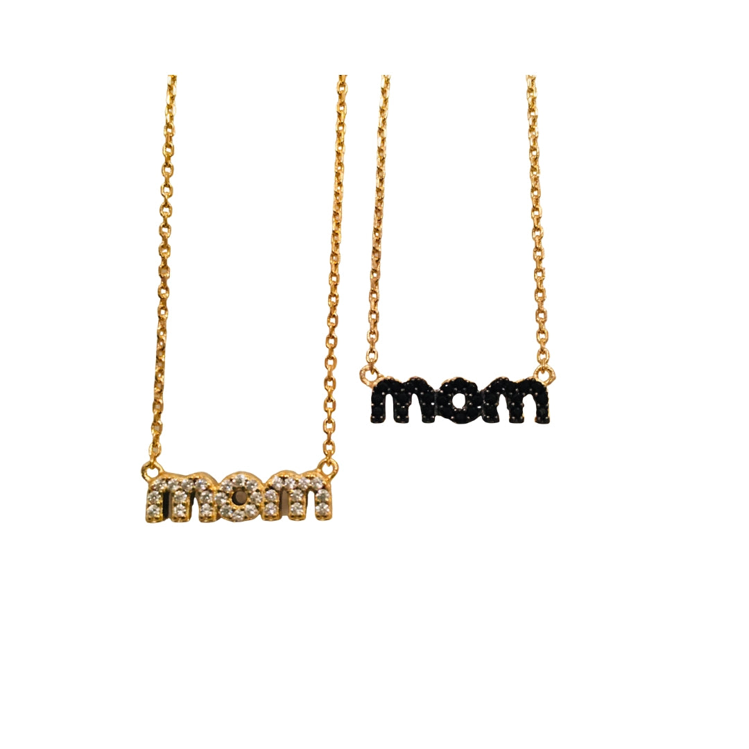 'XOX' MOM REVERSIBLE NAMEPLATE NECKLACE