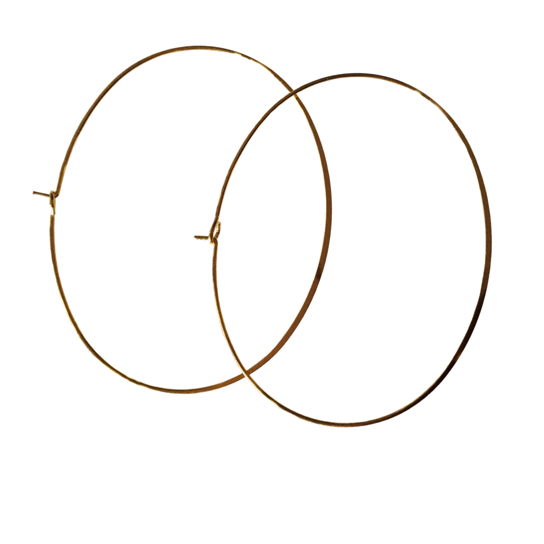 FINE WIRE OVAL HOOPS