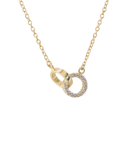 HOLD THE REINS PAVE LINK NECKLACE