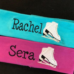 Ice Skates + Name Headband