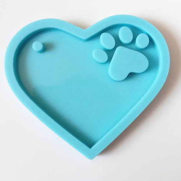 Paw Print Keychain Silicone Mold