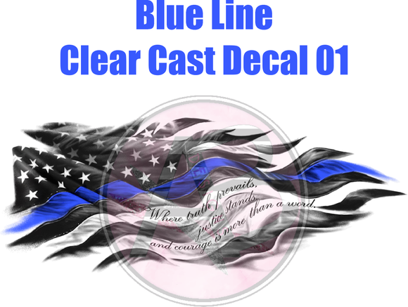Blue Line 01 - Clear Cast Decal