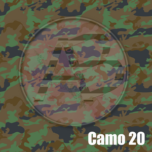 Adhesive Patterned Vinyl - Camo 20