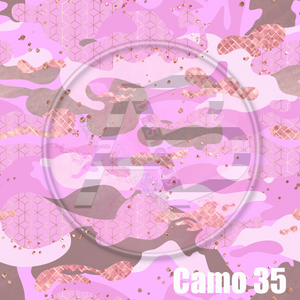 Adhesive Patterned Vinyl - Camo 35