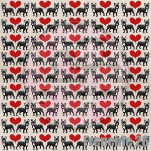 Adhesive Patterned Vinyl - Frenchie 26