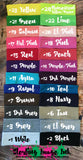 Headband Color Chart