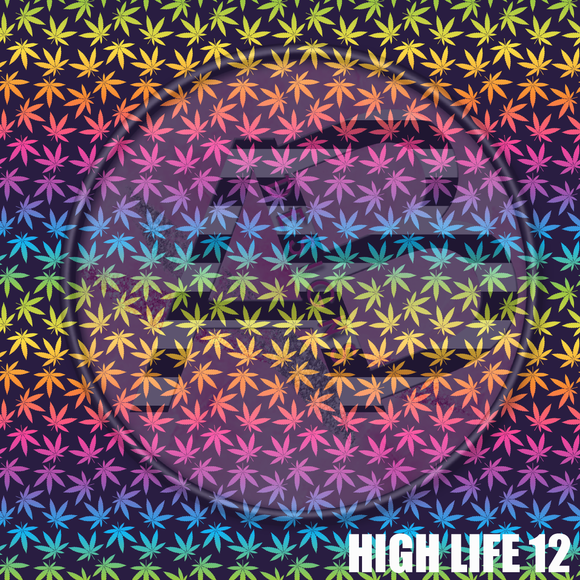 Adhesive Patterned Vinyl - High Life 12