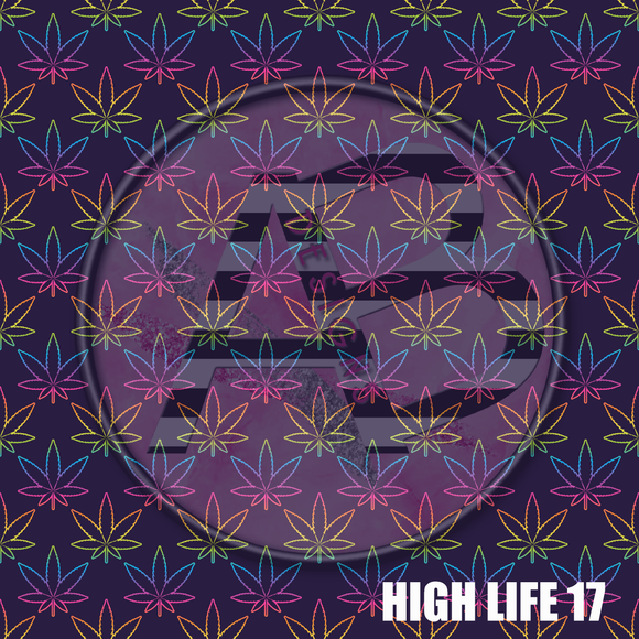 Adhesive Patterned Vinyl - High Life 17