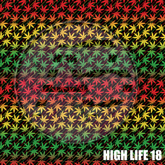 Adhesive Patterned Vinyl - High Life 18