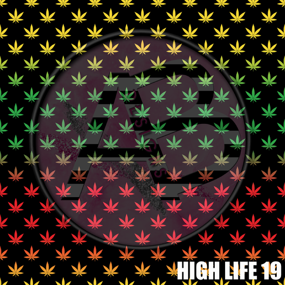 Adhesive Patterned Vinyl - High Life 19