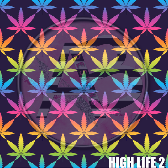 Adhesive Patterned Vinyl - High Life 2