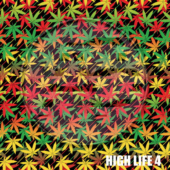 Adhesive Patterned Vinyl - High Life 4