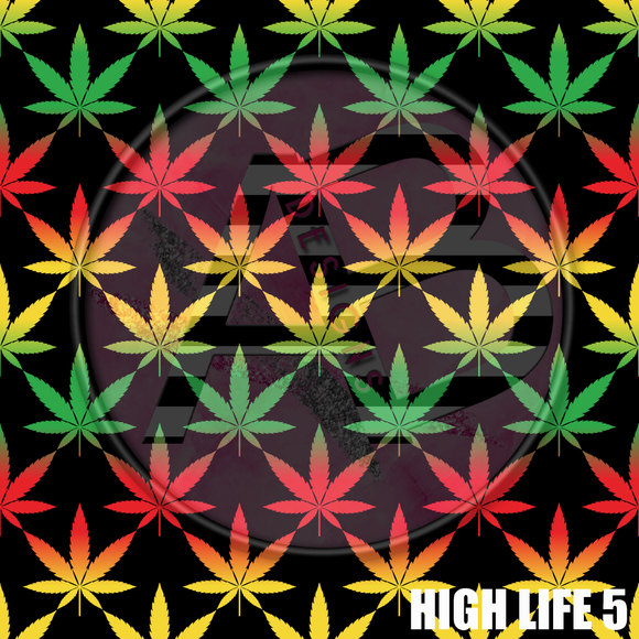 Adhesive Patterned Vinyl - High Life 5