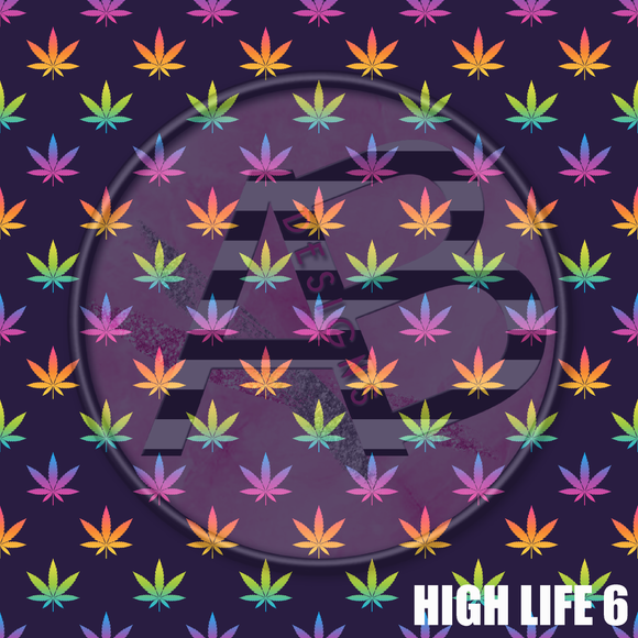 Adhesive Patterned Vinyl - High Life 6