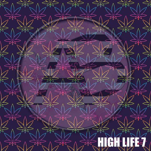 Adhesive Patterned Vinyl - High Life 7
