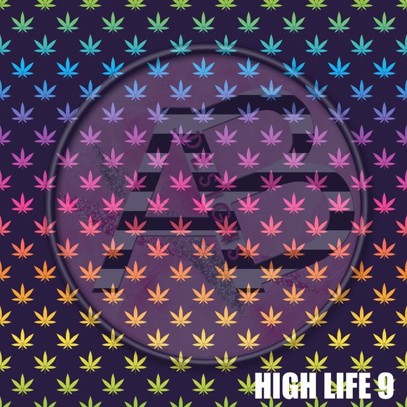 Adhesive Patterned Vinyl - High Life 9
