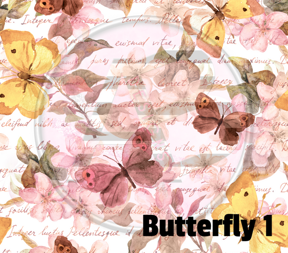 Adhesive Patterned Vinyl - Butterfly 1