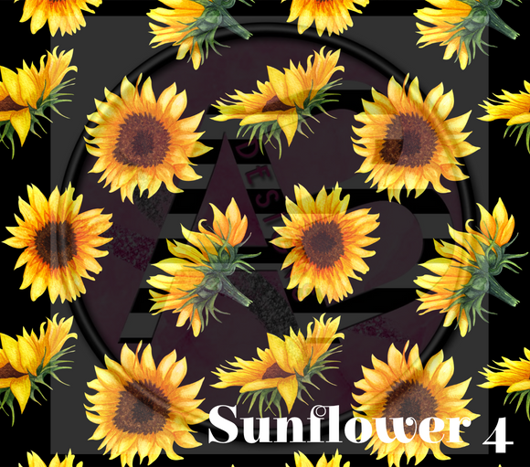 Adhesive Patterned Vinyl - Sunflower 4