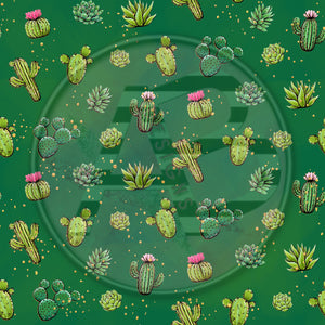 Adhesive Patterned Vinyl - Cactus 177