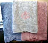 Quilted Baby Blanket with Birth Block