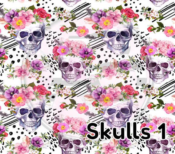 Adhesive Patterned Vinyl - Skull 1