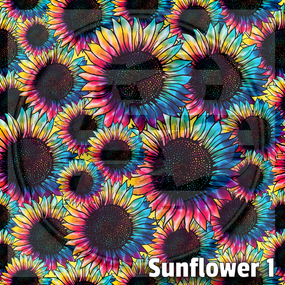Adhesive Patterned Vinyl - Sunflower 1