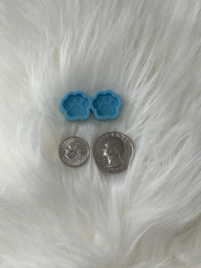 Paw Print Silicone Earring Mold