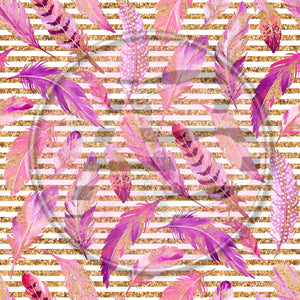 Adhesive Patterned Vinyl - Feathers 306